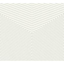 Daniel Hechter Vliestapete geometrische Tapete weiß silber 375222 10,05 m x 0,53 m