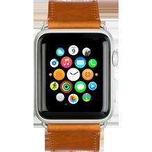 dbramante1928 dbramante1928 Copenhagen Strap, Apple Watch, 42/44mm, dunkel sattelbraun/silber, AW42DSSI0885