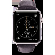 dbramante1928 dbramante1928 Copenhagen Strap, Apple Watch, 42/44mm, silber/schwarz, AW42BLSI0922