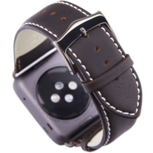 dbramante1928 Copenhagen Apple watch Leder-Armband 38mm - spacegrey/hunter