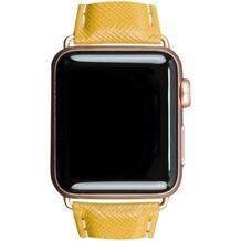 dbramante1928 dbramante1928 MODE. Madrid Strap, Apple Watch, 38/40mm, deep amber/gold, AW38DEAM5198