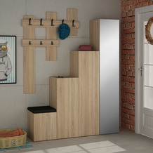 Decortie Garderobe Up, kalifornische Eiche