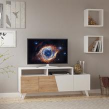 Decortie TV-Regal Cafune, weiß/kalifornische Eiche