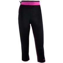 Delfin Spa Fitness-Capri-Hose mit Wärme-Effekt - aus Neopren mit Biokeramik, black/pink XS (34/36)