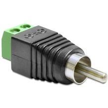 DeLock Adapter Cinch Stecker > Terminalblock 2 Pin