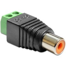 DeLock Adapter Cinchbuchse > Terminalblock 2 Pin