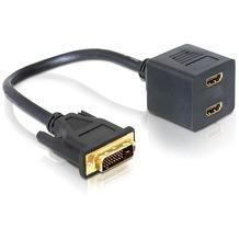 DeLock Adapter DVI 25 Stecker zu 2x HDMI Buchse