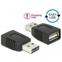 DeLock Adapter EASY USB 2.0-A Stecker zu USB 2.0-A Buchse nur Ladefunktion