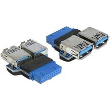 DeLock Adapter USB 3.0 PinHeader Buchse>2 x USB 3.0 Buchse