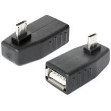DeLock Adapter USB micro-B St/ USB A Bu 90° gew