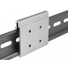 DeLock Aluminium Montageclip für Hutschiene breit