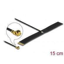 DeLock Antenne LPWAN MHF® I Stecker -0,38 dBi 15 cm 1.13 FPC schwarz