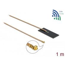 DeLock Antenne WLAN MHF® I Stecker 802.11 ac/ax/a/h/b/g/n 0,5 - 1,2 dBi 1 m