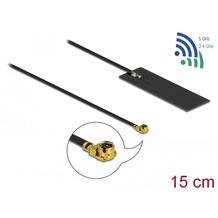 DeLock Antenne WLAN MHF® I Stecker 802.11 ac/ax/a/h/b/g/n 2 - 4 dBi 15 cm