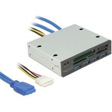 DeLock Card Reader 3½ USB 3.0 > All in 1 + 4 x USB 3.0 Port