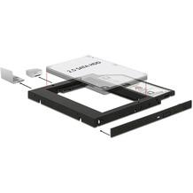 DeLock Einbaurahmen Slim SATA 5¼ für 2½ SATA HDD 9,5 mm