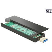 DeLock Ext. Gehäuse M.2 Key B 80 mm SSD> USB 3.1 Typ A St.