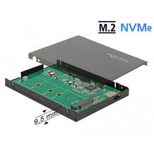 DeLock Externes 2.5 Gehäuse für M.2 NVMe PCIe SSD mit USB 3.1 Gen 2 USB Type-C™