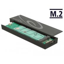 DeLock Gehäuse M.2 SSD 42/60/80 > USB 3.1 Micro-B