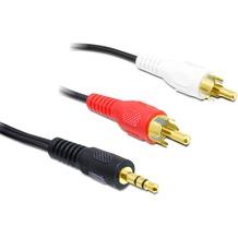 DeLock Kabel Audio Klinke 3,5 mm Stecker > 2 x Cinchstecker