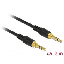 DeLock Kabel Klinke 3 Pin 3,5 mm Stecker > Stecker 2,0 m schwarz