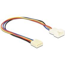 DeLock Kabel Lüfteranschluss 4pin Stecker-Buchse 0,20m
