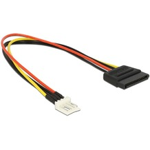 DeLock Kabel Power SATA 15 Pin Stecker> Floppy 4 Pin Stecker