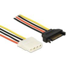 DeLock Kabel Power SATA 15pin St > 4pin Molex Bu 70cm