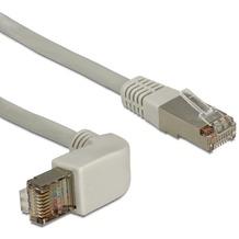 DeLock Kabel RJ45 Cat 5e SFTP gewinkelt/gerade 0,5m