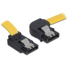 DeLock Kabel SATA 30cm rechts/oben Metall gelb