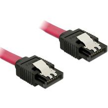 DeLock Kabel SATA 6 Gb/s 10cm gerade/gerade rot