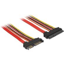 DeLock Kabel SATA 6 Gb/s 22 Pin Stecker > SATA 22 Pin Buchse 154209