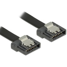 DeLock Kabel SATA FLEXI 6 Gb/s 30 cm schwarz Metall