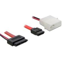 DeLock Kabel SATA Slimline Buchse + 2pin Power > SATA