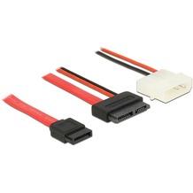 DeLock Kabel slim SATA 13 Pin Bu > 7 Pin+ 5 V 50 cm