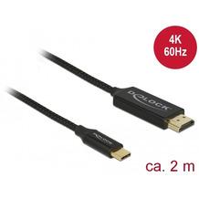 DeLock Kabel USB Type-C™ Stecker > HDMI-A Stecker 4K 60 Hz 2 m schwarz