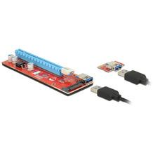 DeLock Karte PCI Express x1 > x16 mit 60cm USB Kabel