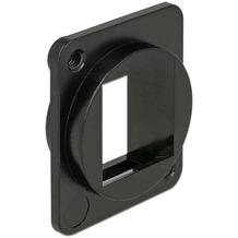 DeLock Keystone Halterung 1 Port D-Typ (XLR) schwarz