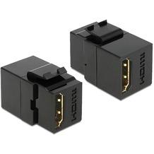 DeLock Keystone HDMI Buchse > HDMI Buchse schwarz