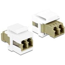DeLock Keystone Modul LC Duplex Buchse > Buchse Multimode