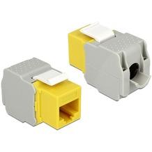 DeLock Keystone RJ45 Buchse > LSA werkzeugfrei Cat.6 UTP gelb