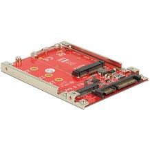 """DeLock Konverter 2.5"""" SATA 22 Pin > M.2 / mSATA 7 mm"""
