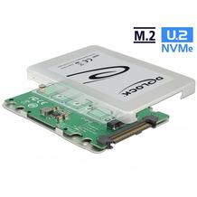 """DeLock Konverter U.2 SFF-8639 > M.2 Key M PCIe mit 2.5"""" Gehäuse 9,5mm"""