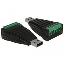 DeLock Konverter USB Typ-A zu Seriell RS-422/485 Terminalblock mit Überspannungs