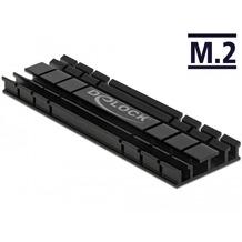 DeLock Kühlkörper flach 70 mm für M.2 Modul schwarz