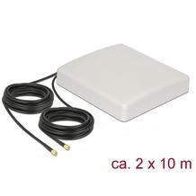 DeLock LTE MIMO Antenne 2xSMA Stecker 8dBi direktional + Anschlusskabel RG58 10m