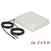 DeLock LTE MIMO Antenne 2xSMA Stecker 8dBi direktionalt + Anschlusskabel RG58 5m