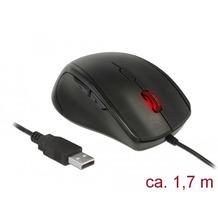 DeLock Maus ergonomisch optisch 5-Tasten Linkshänder USB-A