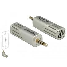 DeLock Mikrofon für Smartphone-Tablet Klinke 3,5 mm 4 pin silber