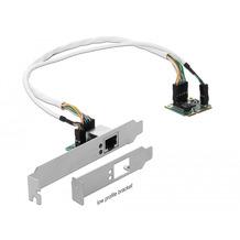 DeLock Mini PCIe I/O PCIe half size 1 x Gigabit LAN Low Profile